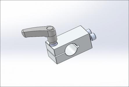 AL End Knuckle w/Key & Handle for 3/4