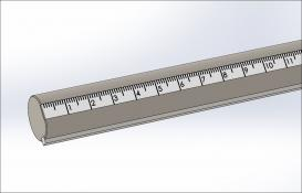 Rod w/Scale (mm) & Key, 270 degrees, Stainless Steel, 1/2